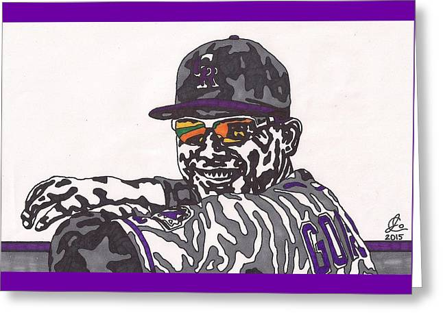 Carlos Gonzalez 1 Greeting Card by Jeremiah Colley