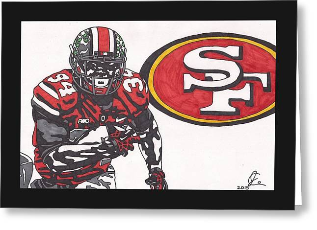 Carlos Hyde  Greeting Card by Jeremiah Colley