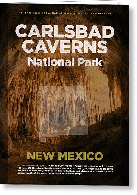 Carlsbad Caverns National Park In New Mexico Travel Poster Series Of National Parks Number 09 Greeting Card
