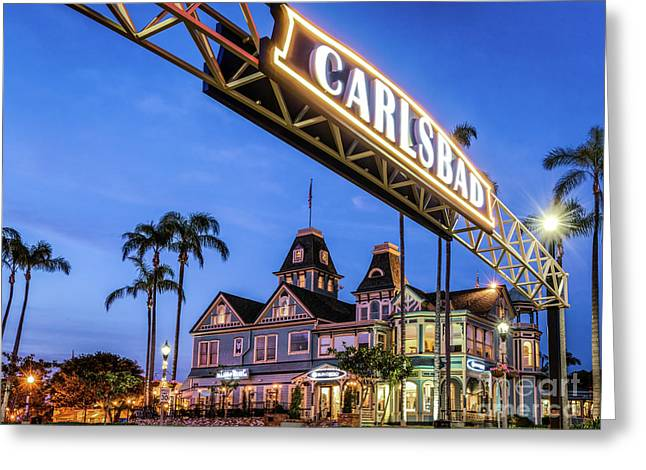 Carlsbad Welcome Sign Greeting Card