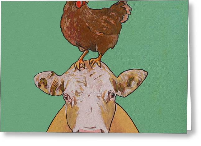 Carlyle The Cow Greeting Card