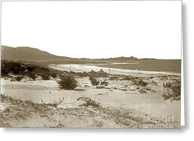 Carmel Beach, Carmel Point And Point Lobos Circa 1925 Greeting Card by California Views Mr Pat Hathaway Archives