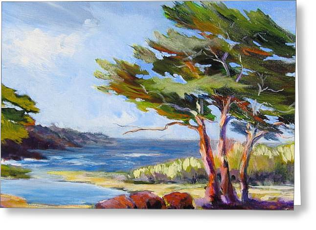 Carmel By The Sea Greeting Card by Barbara Moore