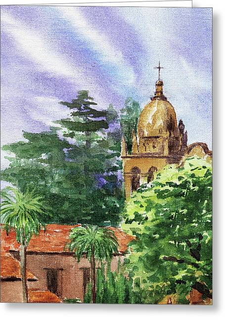 Carmel By The Sea Basilica Greeting Card