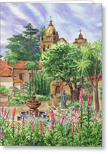 Carmel By The Sea Mission Greeting Card