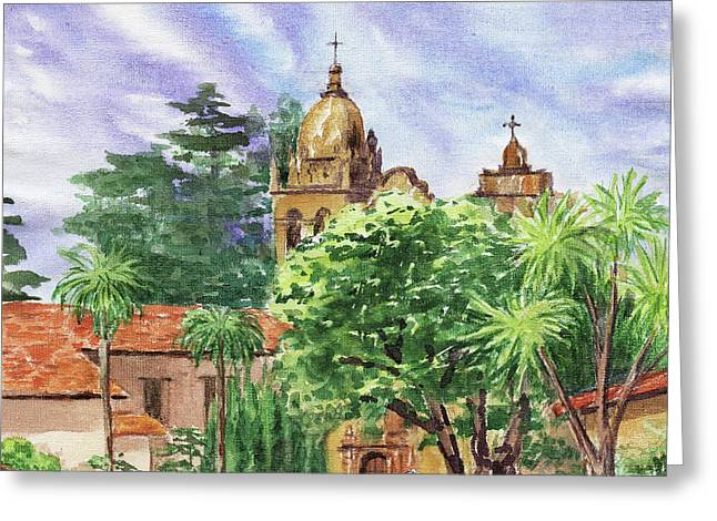 Carmel Mission Basilica Greeting Card