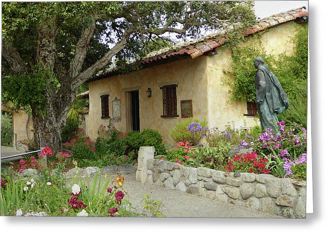 Carmel Mission Grounds Greeting Card by Gordon Beck
