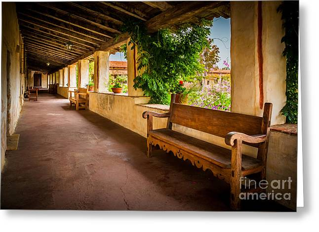 Carmel Mission Hallway Greeting Card