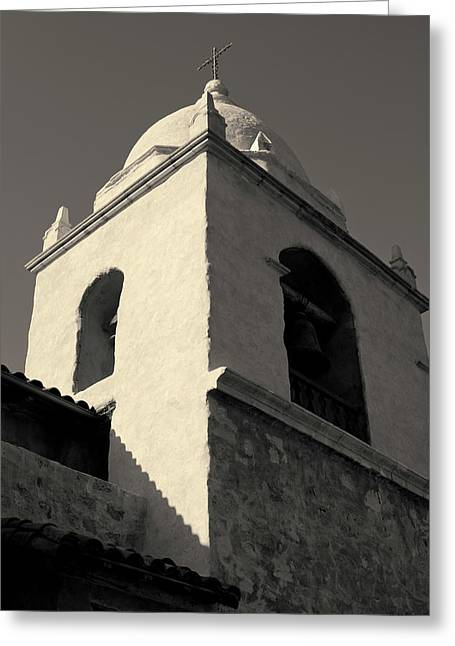 Carmel Mission I Toned Greeting Card by David Gordon