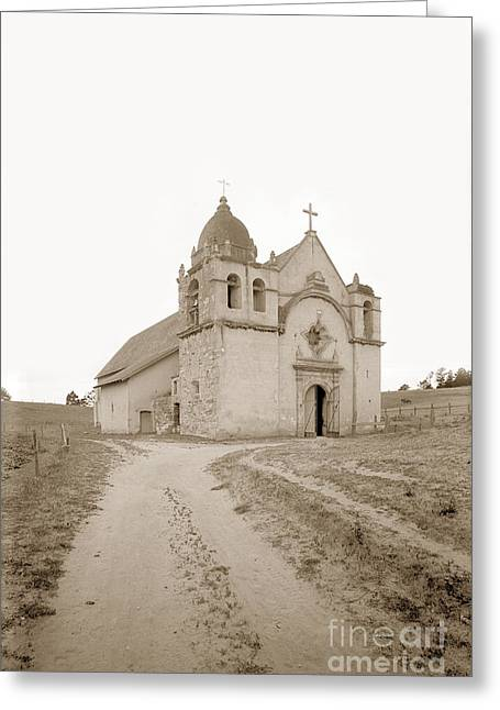 Carmel Mission South Side Circa 1915 Greeting Card