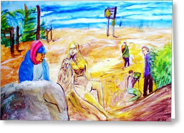 Carmel Sand Art Greeting Card