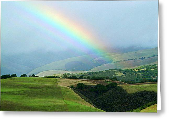 Carmel Valley Rainbow Greeting Card