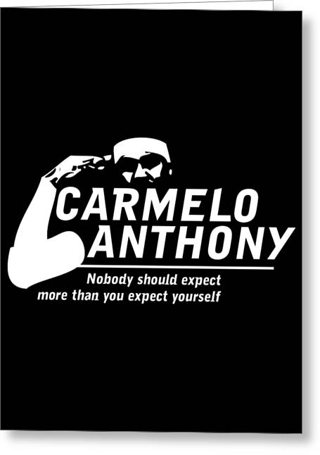 Carmelo Anthony Greeting Card by Augen Baratbate
