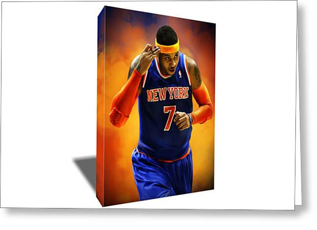 Carmelo Anthony Canvas Art Greeting Card