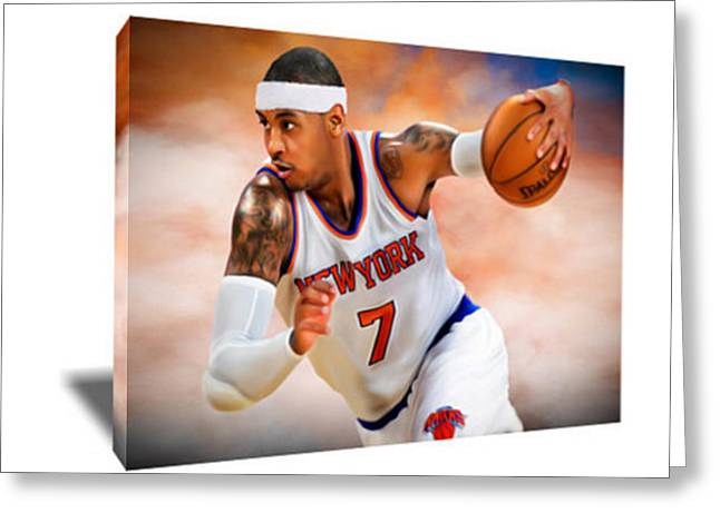 Carmelo Anthony IIi Canvas Art Greeting Card