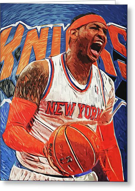Carmelo Anthony Greeting Card