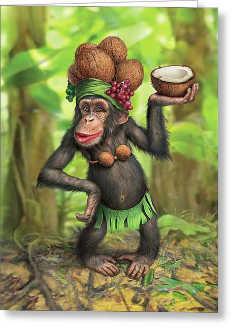 Carmen Coconuts Greeting Card
