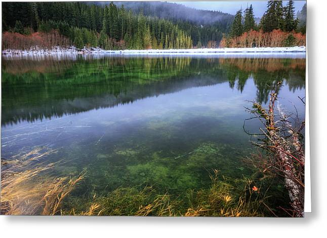 Greeting Card featuring the photograph Carmen Reservoir by Cat Connor