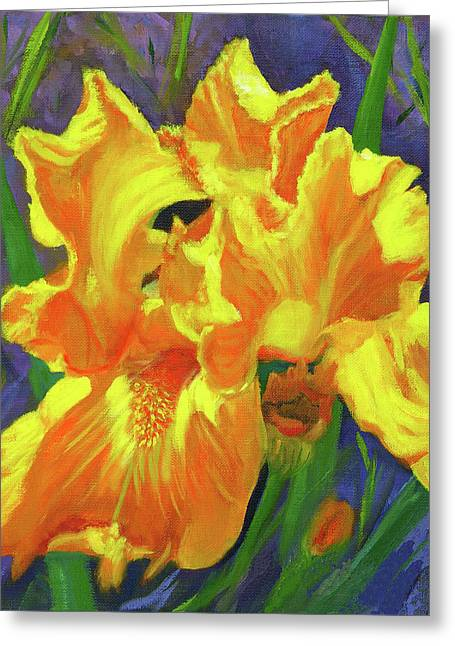 Carmen's Iris Greeting Card