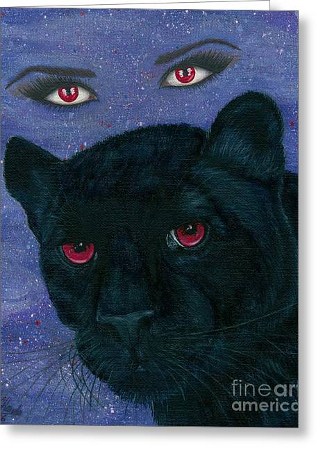 Carmilla - Black Panther Vampire Greeting Card