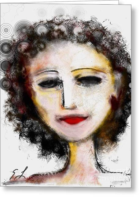 Greeting Card featuring the digital art Carmine by Elaine Lanoue