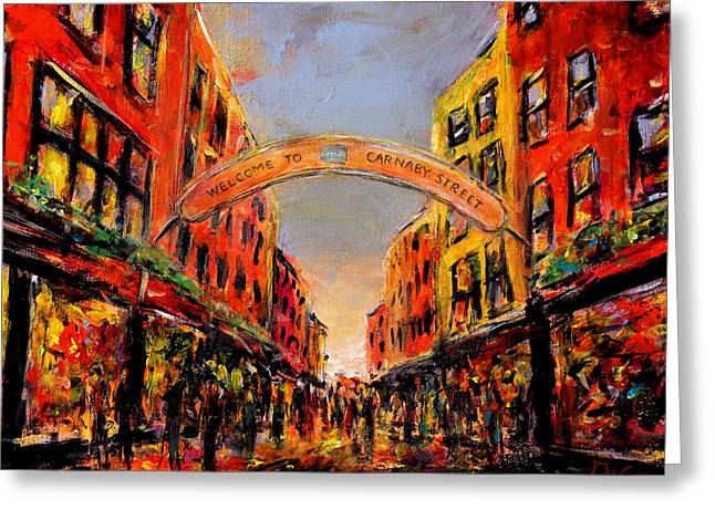 Carnaby Street London Greeting Card