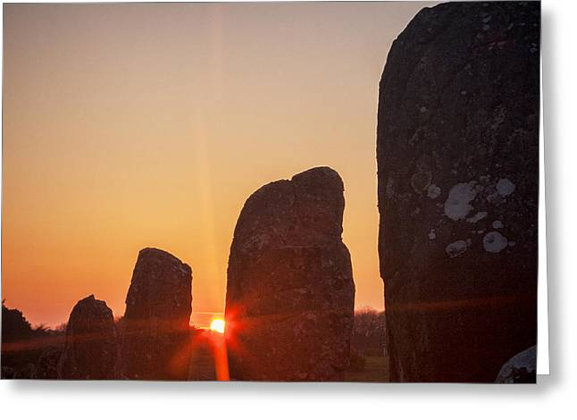 Carnac Sunrise Greeting Card by Colin and Linda McKie