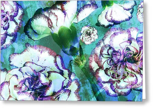 Carnation Dreams Greeting Card by Susanne Kasielke