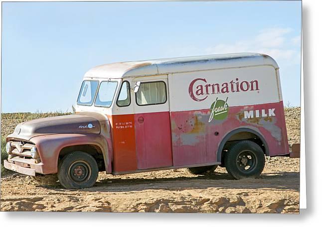Carnation Fresh Milk Greeting Card by Nicholas Blackwell