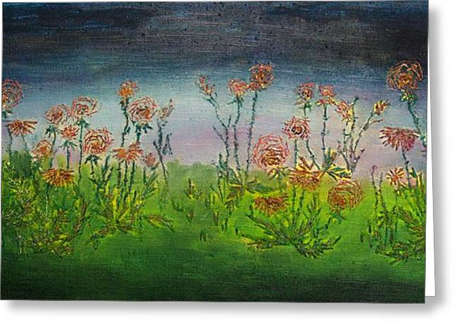 Carnations At Dusk Greeting Card by Jacob Stempky