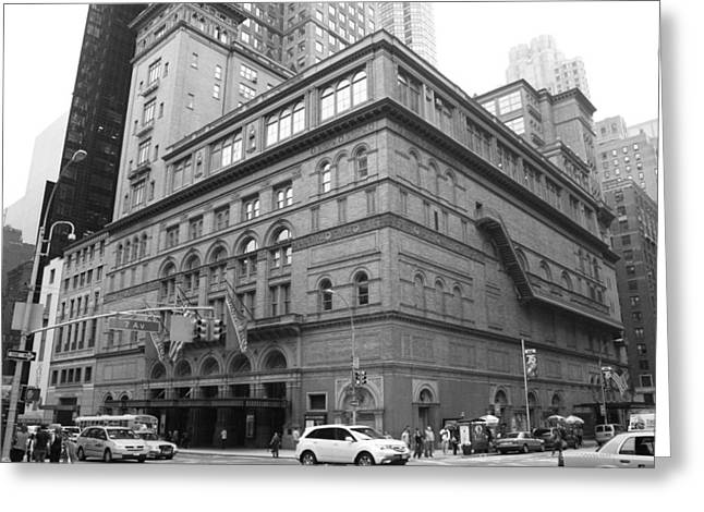 Carnegie Hall Greeting Card by Christopher Kirby