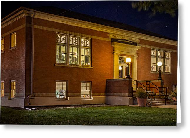 Carnegie Library, Monte Vista, Co Greeting Card by Kenneth Michel