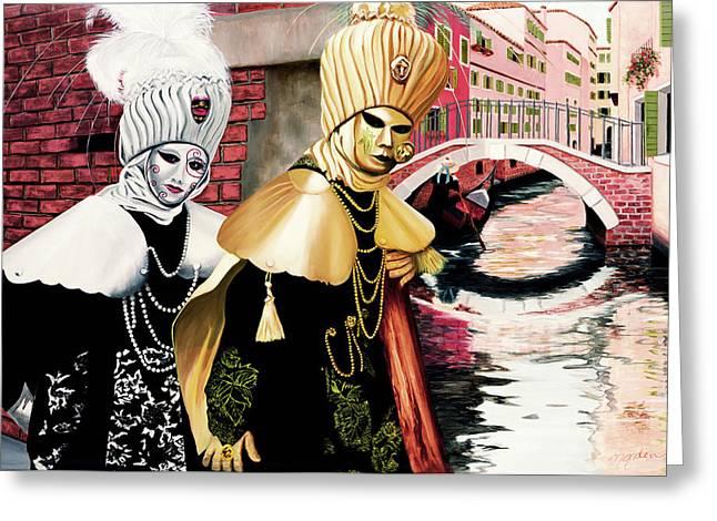 Carnevale Venezia - Prints From Original Oil Painting Greeting Card