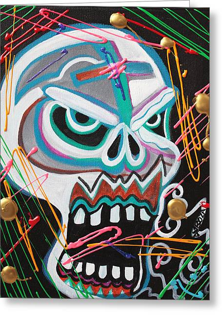 Carnie Skull Greeting Card