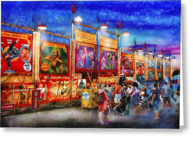 Carnival - World Of Wonders Greeting Card by Mike Savad