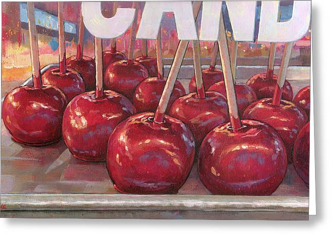 Carnival Apples Greeting Card