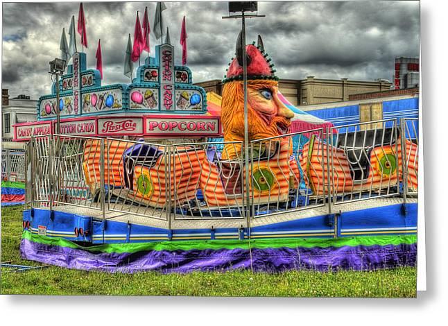 Carnival At Crocker Park Greeting Card by Neil Doren