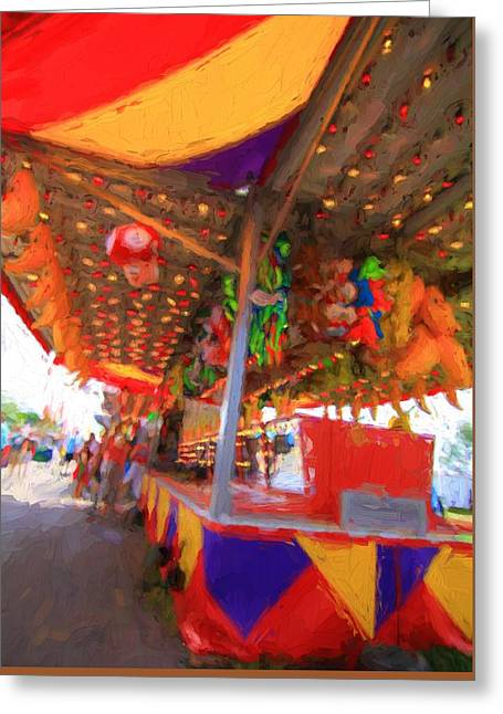 Carnival Games Greeting Card by Dan Sproul