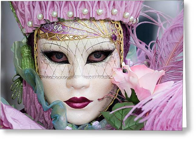 Carnival In Pink Greeting Card