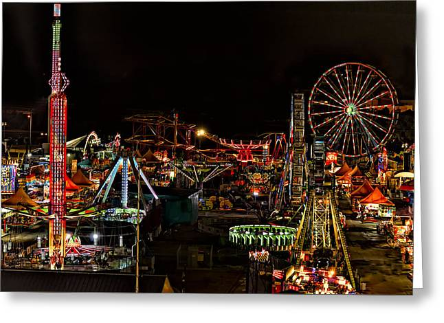 Carnival Midway Greeting Card