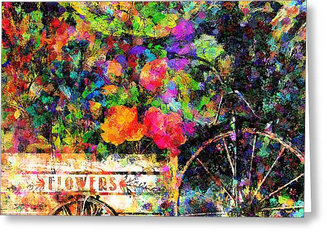Carnival Of Flowers Abstract Realism Greeting Card