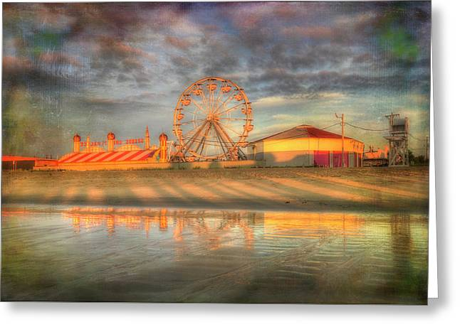 Carnival - Old Orchard Beach - Maine Greeting Card by Joann Vitali