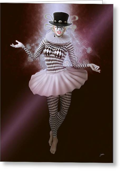 Carnival Pierrette Greeting Card
