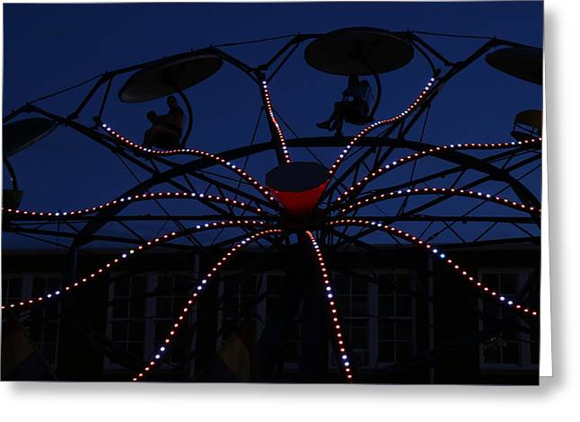 Carnival Ride 3 Greeting Card by Mary Bedy
