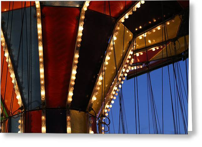 Carnival Ride 6 Greeting Card by Mary Bedy