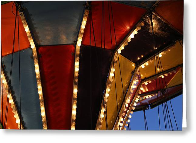 Carnival Ride 7 Greeting Card by Mary Bedy