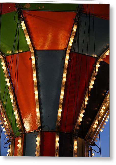 Carnival Ride 8 Greeting Card by Mary Bedy
