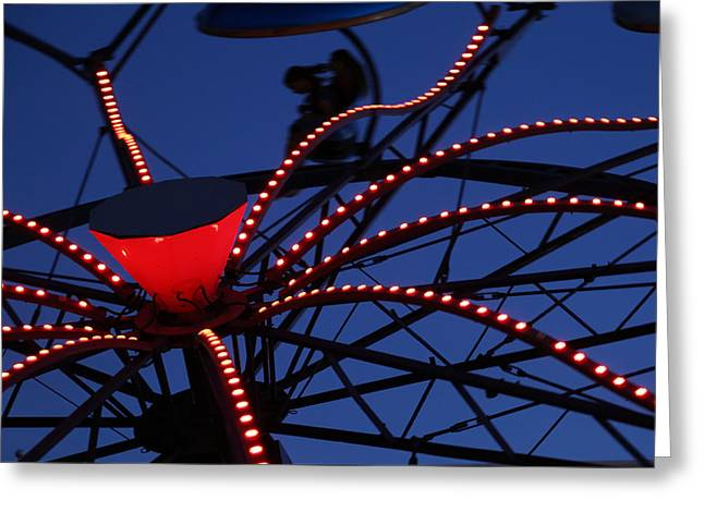 Carnival Ride Abstract 1 Greeting Card by Mary Bedy
