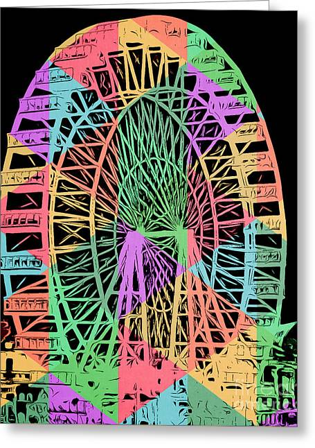 Carnival Ride Greeting Card by Edward Fielding
