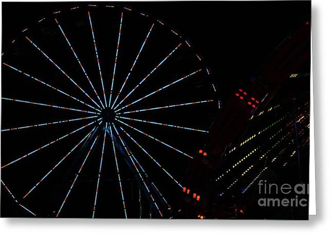 Carnival Rides Greeting Card by Amanda Kessel
